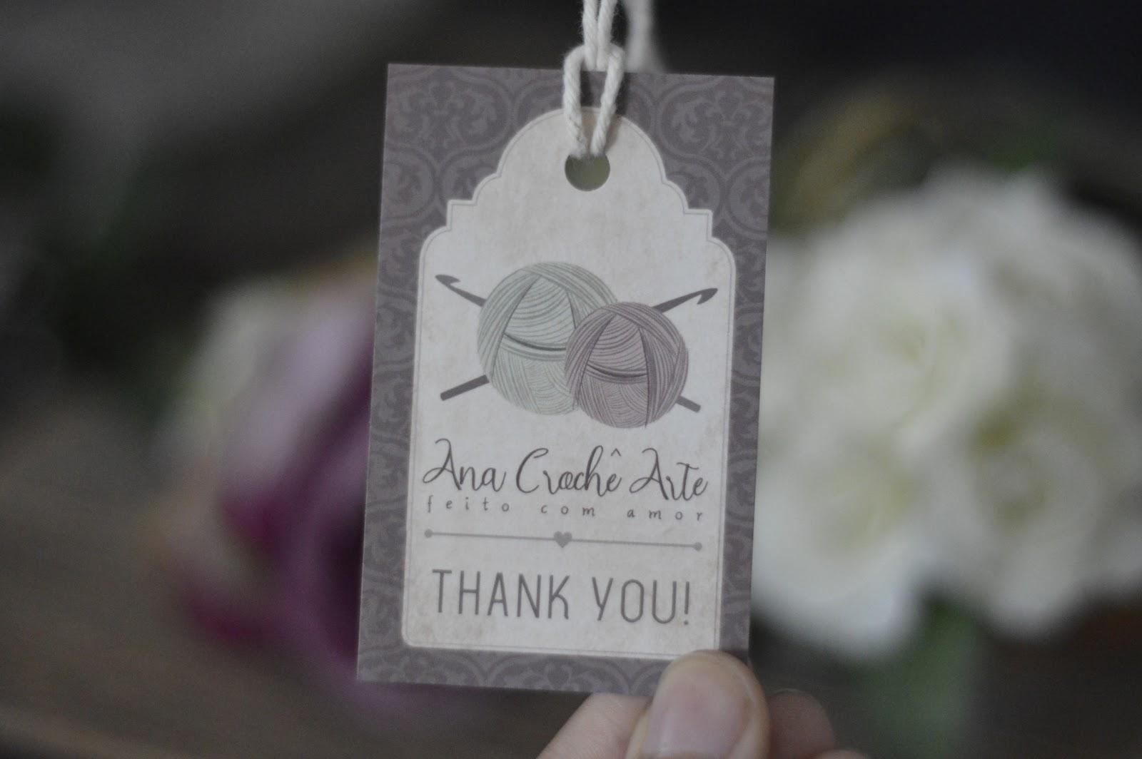 Tag de Agradecimento para Lojas e Ateliês - Arte Personalizada e Impressão a partir de 100 unidades
