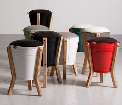 bucket storage stools