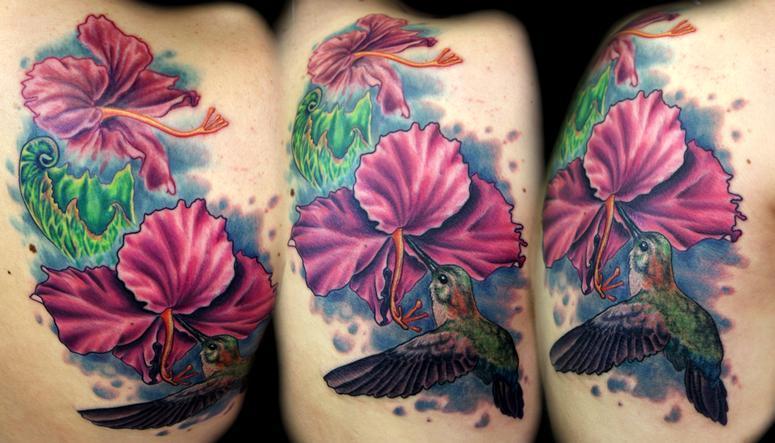 Hummingbird Flower Tattoos: Tattoos Of Humming Bird: Flowers And Hummingbird Tattoos