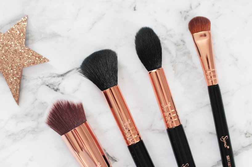 Sigma beauty copper rose gold brushes