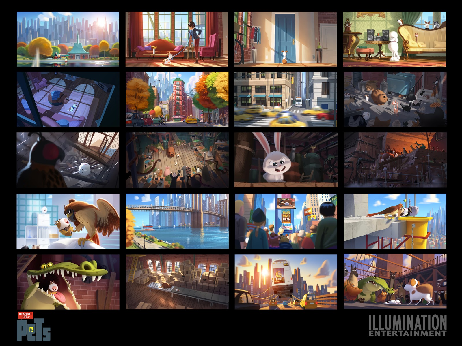 ludo gavillet portfolio the secret life of pets dvd available. Black Bedroom Furniture Sets. Home Design Ideas