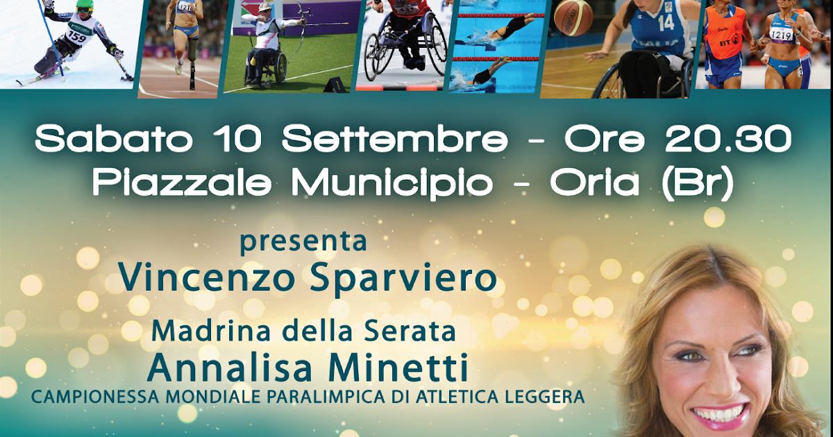 Oria - domani 10 settembre gran gala' dello sport paralimpico pugliese