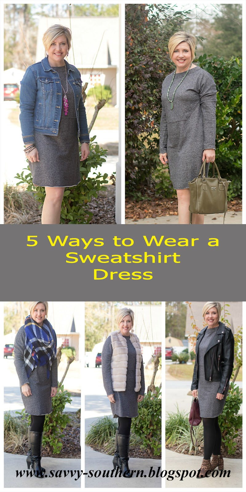 5 Ways to Wear a Sweatshirt Dress
