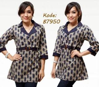 Model Baju Batik Kantor Wanita Trendy