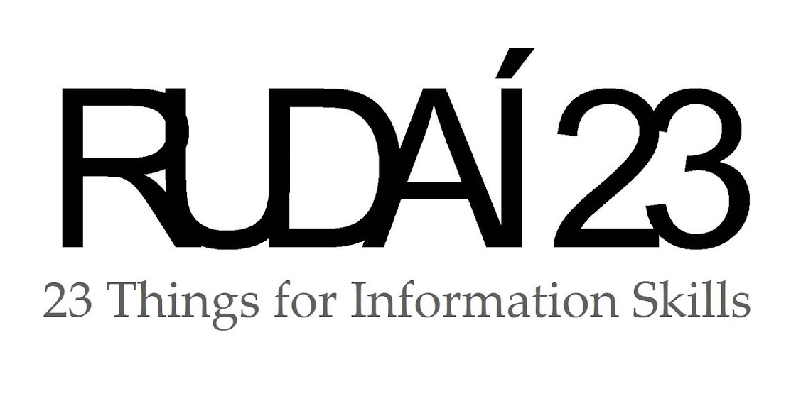 Rudai 23: 23 Things for Information Skills