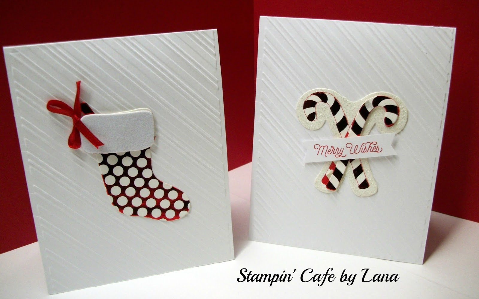 Stampin Cafe By Lana Quick Christmas Cards Using Store Bought Tags