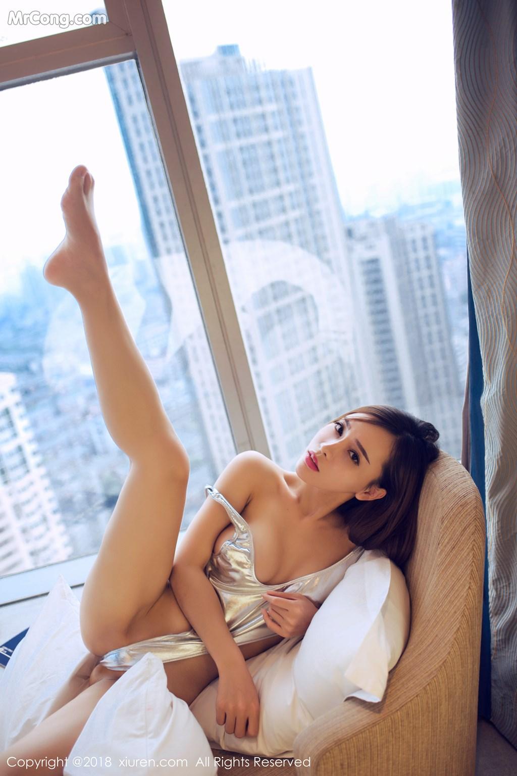 Image XIUREN-No.946-Ai-Xiao-Qing-MrCong.com-015 in post XIUREN No.946: Người mẫu Ai Xiao Qing (艾小青) (46 ảnh)