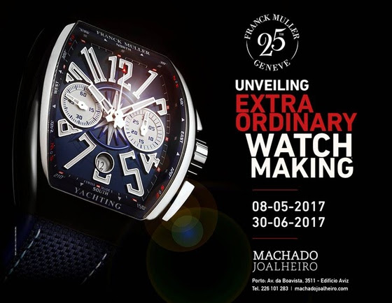 2a80dceda0f Estação Cronográfica  Relógios Franck Muller em exposição na Machado ...