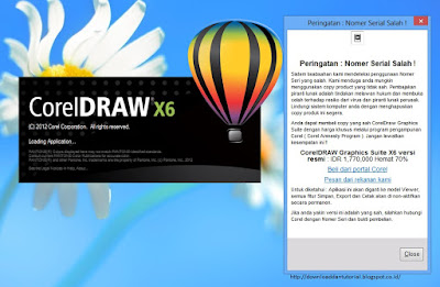 Cara Mengatasi Corel Draw x4, x5, x6, x7 Viewer Mode Karena Terdeteksi Bajakan