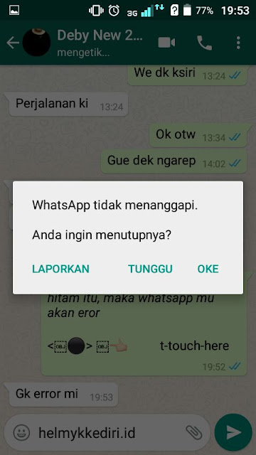 Cara membuat aplikasi whatsapp langsung error