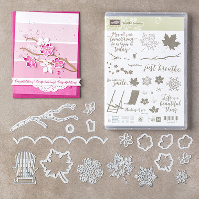 Colourful Seasons, Craftyduckydoodah!, June 2017 Coffee & Cards Project, Seasonal Layers Thinlets, Stampin' Up! UK Independent  Demonstrator Susan Simpson, Supplies available 24/7 from my online store,