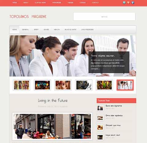 Free Topolanos Magazine - Clean, Magazine, Personal Wordpress Theme