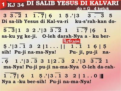 Kord Gitar Kidung Jemaat 34 Di Salib Yesus Di Kalvari