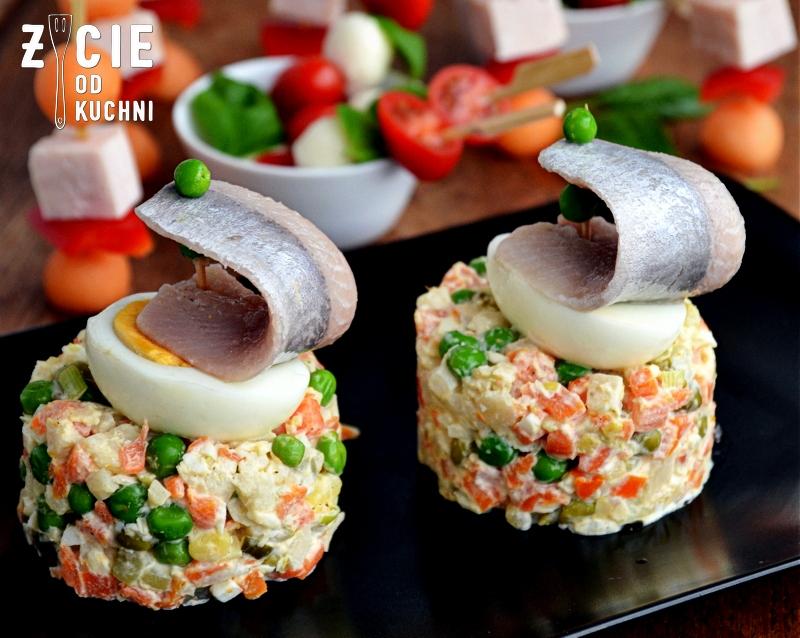 sledz, przystawka, sylwester, salatka jarzynowa, sledzik po japonsku, zycie od kuchni