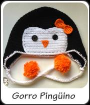 Gorro pingúino crochet