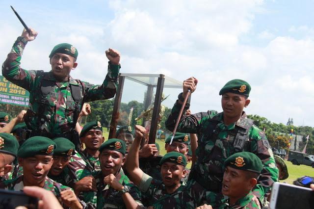 Satuan Jajaran Divif 2 Kostrad Dominasi Lomba Tonting 2018