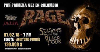 Concierto de RAGE en Bogotá Poster 2