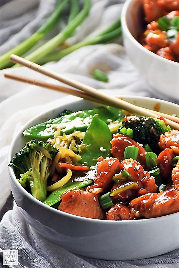 Teriyaki Chicken Rice Bowl ready to eat
