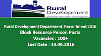 Rural Development Department Recruitment 2016