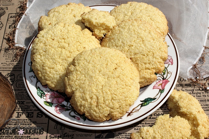 Ciasteczka chałwowo-kokosowe z kleiku ryżowego