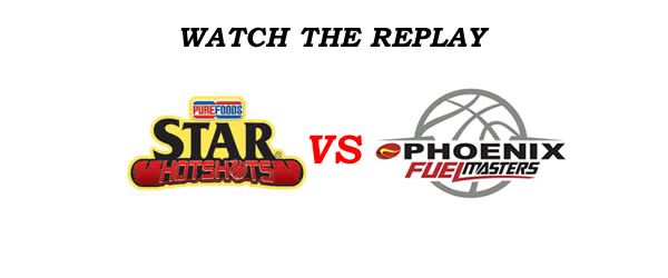 List of Replay Videos Star Hotshots vs Phoenix @ Smart Araneta Coliseum September 2, 2016