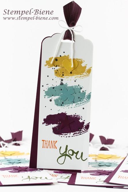Stampin' Up Work of Art, Stampin' Up Itty Bitty Stanzen, Stampin' Up In Color 2014-2016, Stampin' Up Sammelbestellung, Lesezeichen basteln
