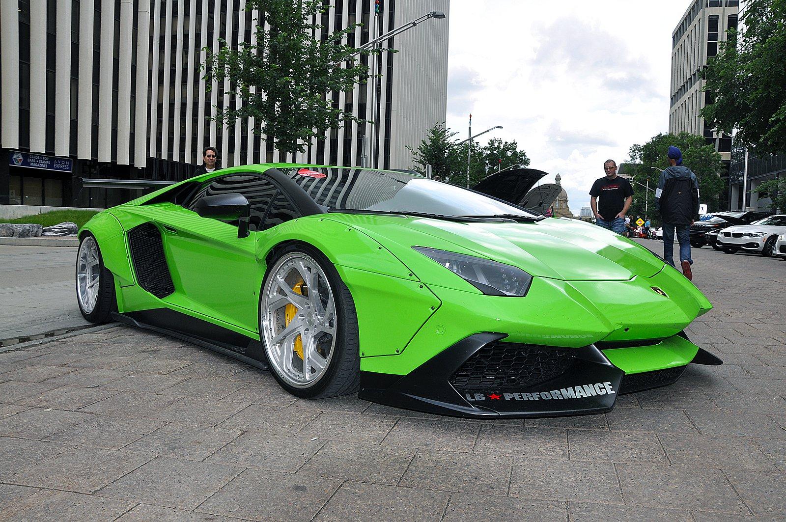 Cars Don T Get Much Crazier Than A Lime Green Liberty Walk Lamborghini Aventador