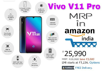 Vivo V11 Pro Specifications and Price in India
