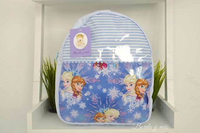 mochila cole Frozen celeste