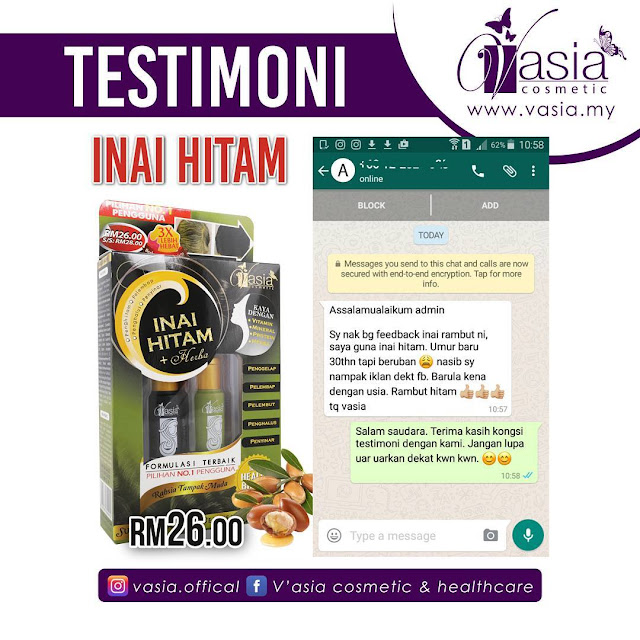 Testimoni Inai Hitam + Herba V'asia
