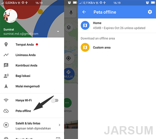 peta offline google maps untuk menghemat data pemakaian