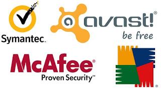 بعض شعارات برامج مضادات الفيروسات والبرمجيات الخبيثة
