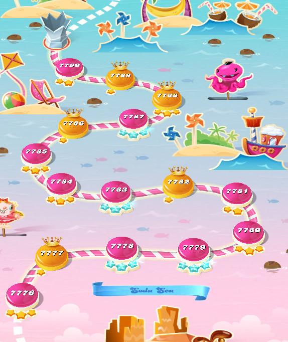 Candy Crush Saga level 7776-7790