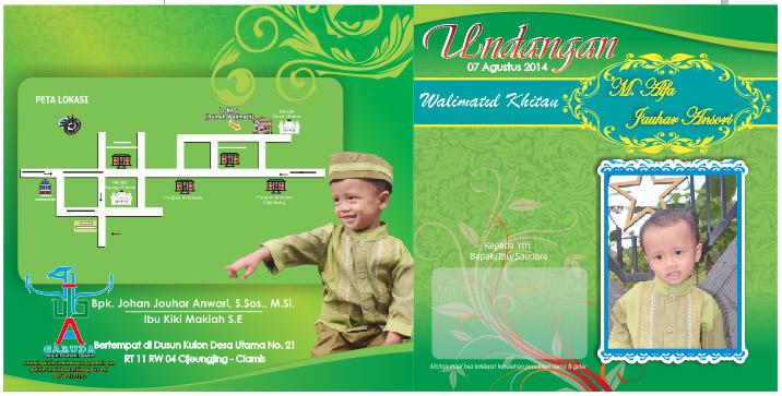 Download Desain Undangan Khitanan Cdr M Alfa Jouhar Ansori