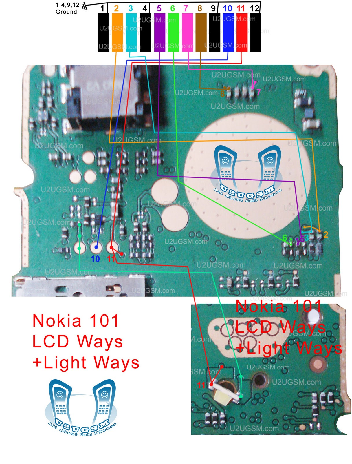 Cell Firmware: Nokia 101 LCD Blank Display Ways Jumpers