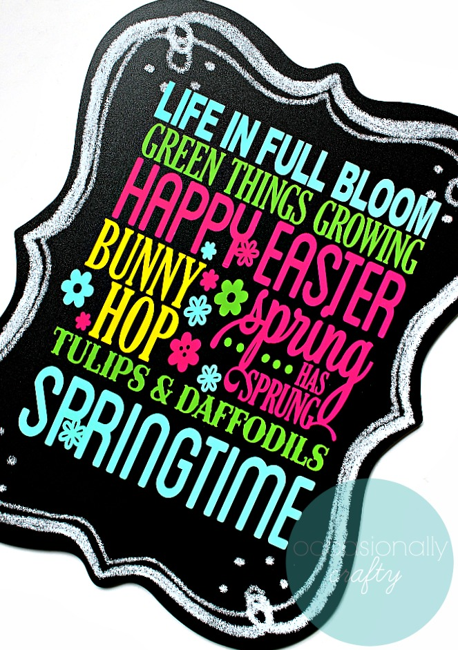 Bring spring inside with this colorful Spring Subway Art Chalkboard!