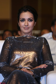 Actress Catherine Tresa in Golden Skin Tight Backless Gown at Gautam Nanda music launchi ~ Exclusive Celebrities Galleries 004.JPG
