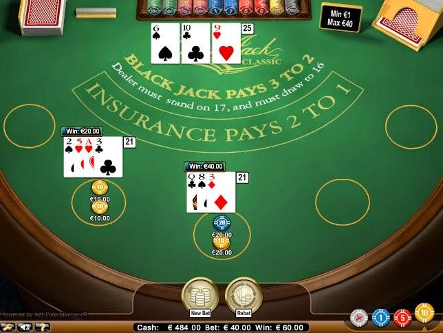 Bet-at-home Blackjack Screen