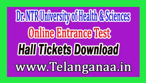 Dr.NTRUHS MD (Homoeo) Online Entrance Test Hall Tickets 2018 Download