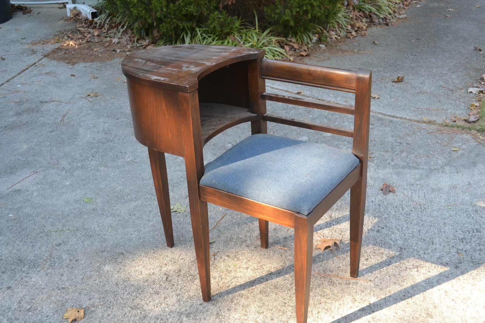 chair attached table bathroom vanity stools chairs antique telephone with best 2000