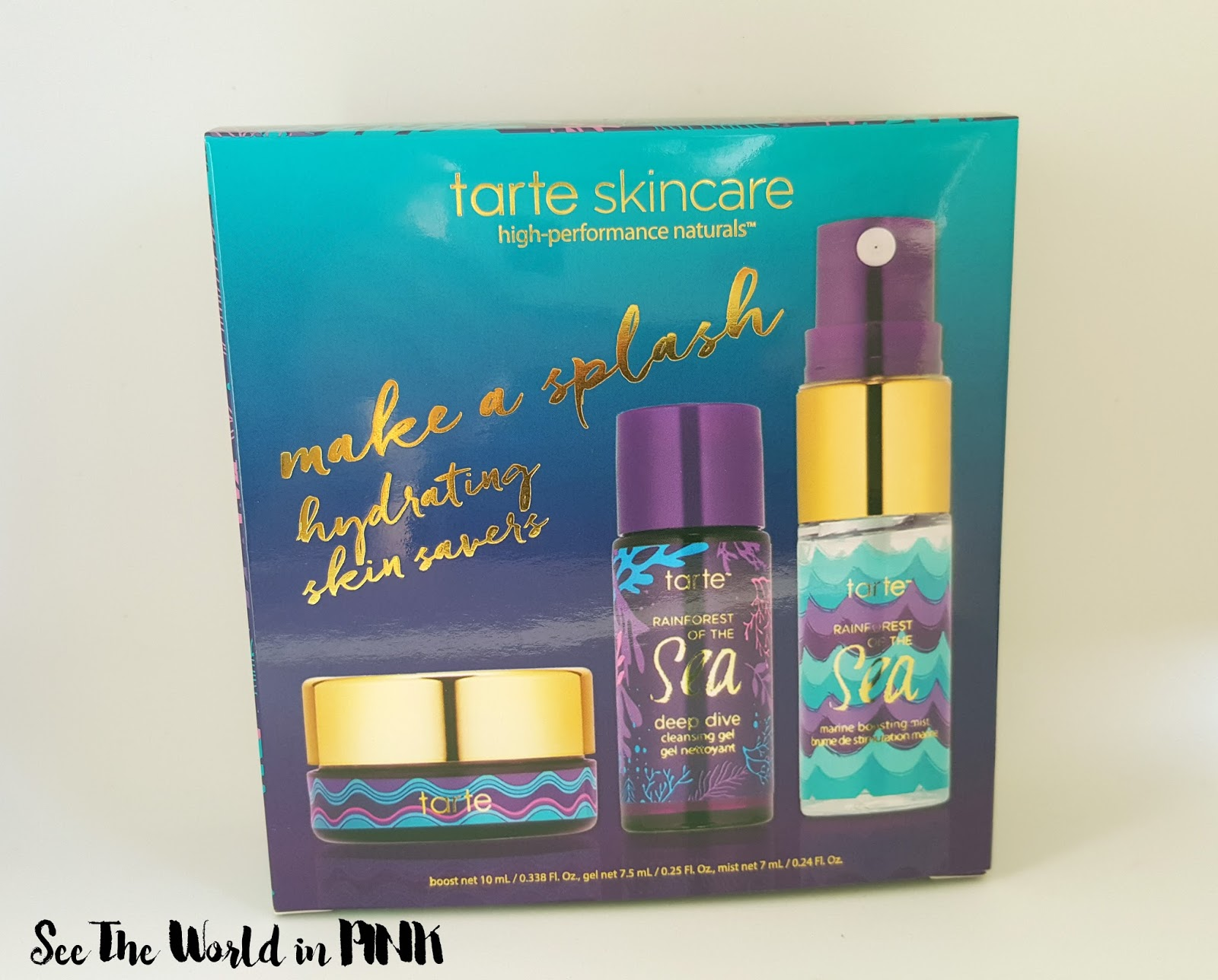 tarte rainforest of the sea make a splash hydrating skin savers review
