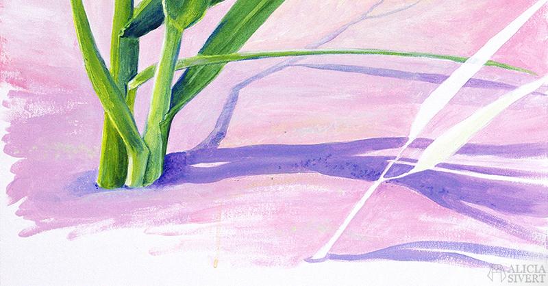 aliciasivert alicia sivert sivertsson måla måleri akryl akrylmålning acrylic painting acrylics color colour paint painting beställning beställa målning skapa skapande kreativitet konst art vass strandråg strand rosa