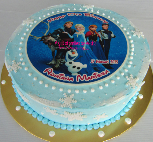 Birthday Cake Edible Image Frozen
