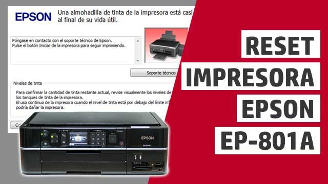 resetear almohadillas impresora Epson EP801A