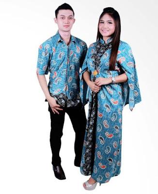 Model Gamis Batik Orang Gemuk couple