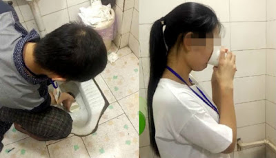 Gila, Perusahaan Ini Suruh Karyawannya Minum dari Air Toilet