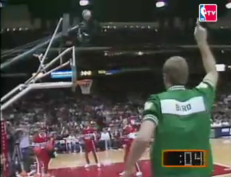 today in celtics history bird wins 3rd 3point shootout