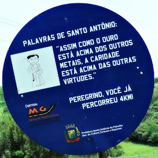 Placa de Quatro Quilômetros - Caminho de Santiago, Santo Antônio da Patrulha