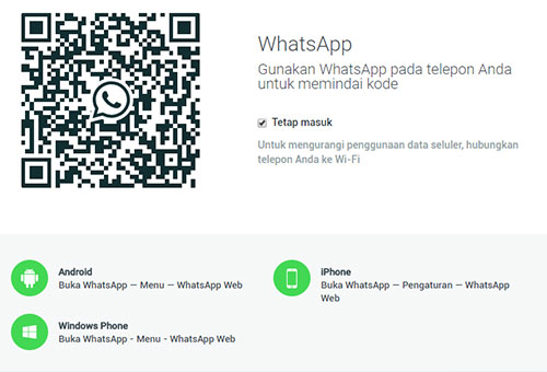 WhatsApp Web, Buka WhatsApp via Google Chrome