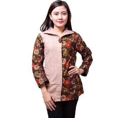 Desain Baju Batik Modern Wanita Terkini